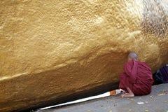 Roccia dorata Fotografia Stock Libera da Diritti
