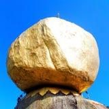 Roccia dorata Fotografie Stock Libere da Diritti