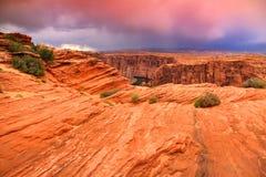 Roccia e canyon rossi Immagini Stock Libere da Diritti