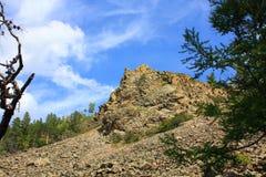 Roccia e cielo Fotografie Stock Libere da Diritti