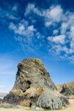 Roccia e cielo blu della parte superiore piana Fotografia Stock