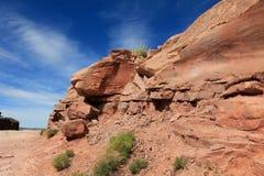 Roccia e cielo del grande canyon. Fotografie Stock Libere da Diritti