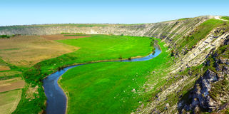 Roccia e fiume Fotografia Stock Libera da Diritti