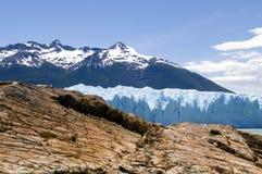 Roccia e ghiaccio dell'Argentina Immagini Stock