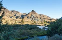 Roccia e John Day River delle pecore Fotografie Stock Libere da Diritti