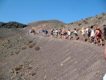 Roccia e lava del vulcano Fotografie Stock