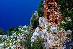 Roccia e mare dentro Fotografia Stock Libera da Diritti