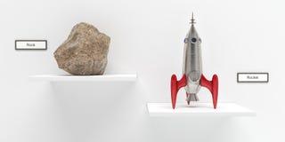 Roccia e Rocket Fotografia Stock Libera da Diritti