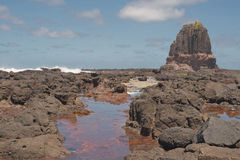 Roccia e schiuma del quadro di comando Fotografia Stock