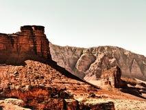 Roccia e viaggio stradale all'Utah, U.S.A. Fotografie Stock