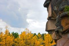 Roccia ed autunno Fotografie Stock