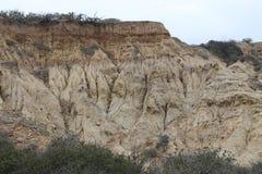 Roccia erosa a Torrey Pines State Park Immagine Stock