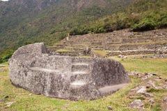 Roccia funeraria di Machu Picchu Fotografie Stock