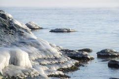 Roccia ghiacciata Immagini Stock