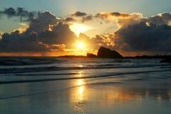 Roccia Gold Coast di Currumbin Fotografia Stock Libera da Diritti