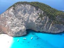 Roccia in Grecia Fotografia Stock