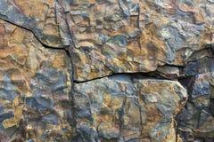 Roccia incrinata, prati aus. di L'Anse Immagine Stock
