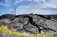 Roccia indurita della lava Fotografie Stock Libere da Diritti