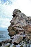 roccia litoranea Immagini Stock