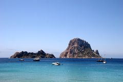Roccia magica es Vedra, Ibiza Fotografia Stock Libera da Diritti