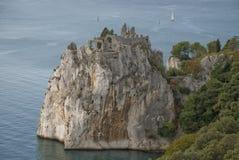 Roccia in mare Fotografia Stock