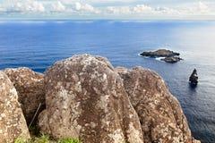 Roccia massiccia con le sculture Fotografia Stock Libera da Diritti