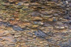 Roccia minerale dello scisto trovata alle scogliere di Moher, contea Clare, Irlanda Immagini Stock