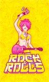 Roccia-n-rotoli Fotografia Stock