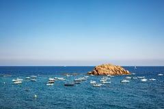 Roccia nel golfo di Tossa de Mar Fotografie Stock