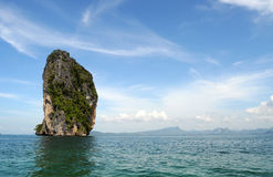 Roccia nel mare Fotografia Stock