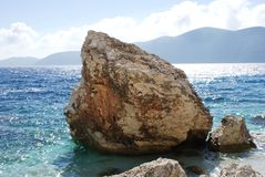 Roccia nel mare Fotografia Stock Libera da Diritti