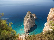 Roccia nel mare 4 Fotografia Stock Libera da Diritti