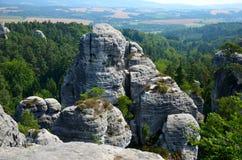 Roccia nel paradiso ceco Fotografia Stock Libera da Diritti