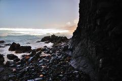 Roccia nell'oceano Fotografia Stock