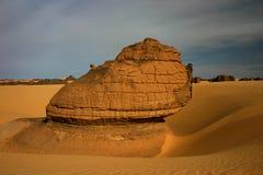 Roccia nella sabbia Fotografie Stock