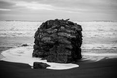 Roccia nella spiaggia Immagine Stock Libera da Diritti