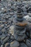 Roccia nera Fotografia Stock