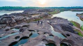 roccia non vista di 3000 bok una bella del Mekong Immagini Stock