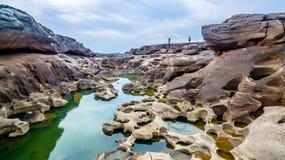 roccia non vista di 3000 bok una bella del Mekong Immagine Stock