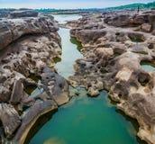 roccia non vista di 3000 bok una bella del Mekong Fotografie Stock