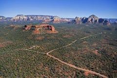 Roccia rossa, cielo blu Fotografie Stock Libere da Diritti