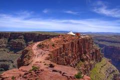 Roccia rossa di HDR al grande canyon Fotografia Stock