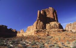 Roccia rossa nella sosta nazionale degli archi Fotografia Stock