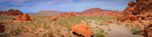 Roccia rossa nella valle di fuoco Fotografie Stock Libere da Diritti
