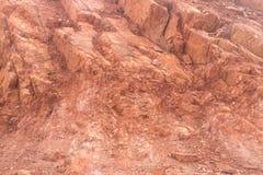 Roccia rossa nella zona di montagna Fotografia Stock
