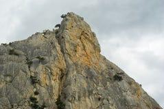 Roccia rossa - posto per la raccolta degli roccia-scalatori Immagine Stock Libera da Diritti