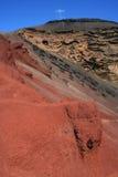 Roccia rossa su Lanzarote, Spagna Fotografie Stock Libere da Diritti