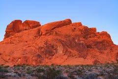 Roccia rossa in valle del parco di stato del fuoco Fotografia Stock