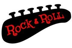 Roccia & rotolo Fotografie Stock