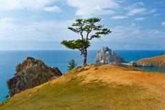 Roccia Samanka sull'isola Olkhon Fotografia Stock Libera da Diritti